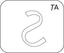 Gujarati Letter TTa